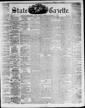 Primary view of object titled 'State Gazette. (Austin, Tex.), Vol. 11, No. 20, Ed. 1, Saturday, December 24, 1859'.
