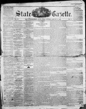 Primary view of object titled 'State Gazette. (Austin, Tex.), Vol. 11, No. 23, Ed. 1, Saturday, January 14, 1860'.
