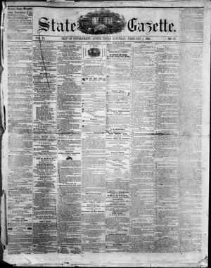 Primary view of object titled 'State Gazette. (Austin, Tex.), Vol. 11, No. 26, Ed. 1, Saturday, February 4, 1860'.
