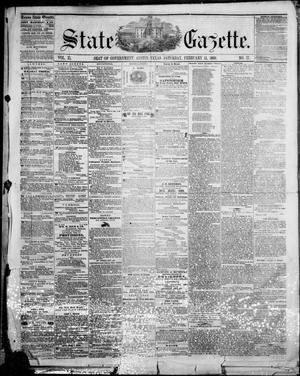 Primary view of object titled 'State Gazette. (Austin, Tex.), Vol. 11, No. 27, Ed. 1, Saturday, February 11, 1860'.
