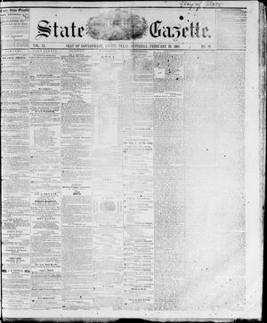 Primary view of object titled 'State Gazette. (Austin, Tex.), Vol. 11, No. 29, Ed. 1, Saturday, February 25, 1860'.