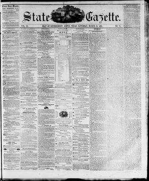 Primary view of object titled 'State Gazette. (Austin, Tex.), Vol. 11, No. 31, Ed. 1, Saturday, March 10, 1860'.