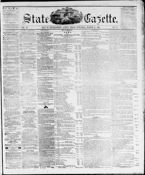 Primary view of object titled 'State Gazette. (Austin, Tex.), Vol. 11, No. 34, Ed. 1, Saturday, March 31, 1860'.