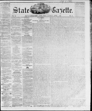 Primary view of object titled 'State Gazette. (Austin, Tex.), Vol. 11, No. 35, Ed. 1, Saturday, April 7, 1860'.