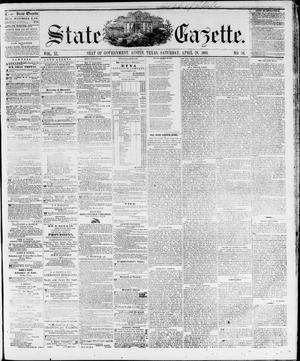 Primary view of object titled 'State Gazette. (Austin, Tex.), Vol. 11, No. 38, Ed. 1, Saturday, April 28, 1860'.