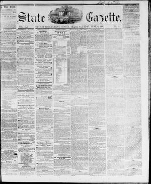 Primary view of object titled 'State Gazette. (Austin, Tex.), Vol. 11, No. 44, Ed. 1, Saturday, June 9, 1860'.