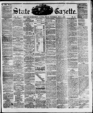 Primary view of object titled 'State Gazette. (Austin, Tex.), Vol. 11, No. 48, Ed. 1, Saturday, July 7, 1860'.