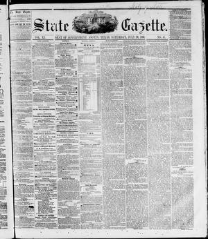 Primary view of State Gazette. (Austin, Tex.), Vol. 11, No. 51, Ed. 1, Saturday, July 28, 1860