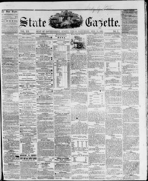 Primary view of object titled 'State Gazette. (Austin, Tex.), Vol. 12, No. 2, Ed. 1, Saturday, August 18, 1860'.