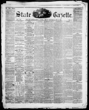Primary view of object titled 'State Gazette. (Austin, Tex.), Vol. 12, No. 9, Ed. 1, Saturday, October 6, 1860'.