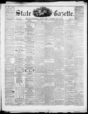 Primary view of object titled 'State Gazette. (Austin, Tex.), Vol. 12, No. 11, Ed. 1, Saturday, October 20, 1860'.