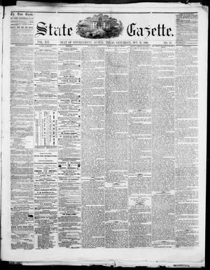 Primary view of object titled 'State Gazette. (Austin, Tex.), Vol. 12, No. 12, Ed. 1, Saturday, October 27, 1860'.