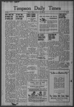 Primary view of object titled 'Timpson Daily Times (Timpson, Tex.), Vol. 41, No. 116, Ed. 1 Saturday, June 13, 1942'.