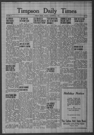 Primary view of object titled 'Timpson Daily Times (Timpson, Tex.), Vol. 41, No. 217, Ed. 1 Monday, November 2, 1942'.