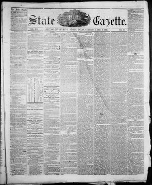 Primary view of object titled 'State Gazette. (Austin, Tex.), Vol. 12, No. 18, Ed. 1, Saturday, December 8, 1860'.