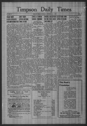 Primary view of object titled 'Timpson Daily Times (Timpson, Tex.), Vol. 42, No. 249, Ed. 1 Saturday, December 11, 1943'.