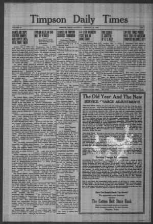 Primary view of object titled 'Timpson Daily Times (Timpson, Tex.), Vol. 42, No. 2, Ed. 1 Saturday, January 2, 1943'.