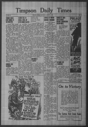 Primary view of object titled 'Timpson Daily Times (Timpson, Tex.), Vol. 42, No. 47, Ed. 1 Saturday, March 6, 1943'.