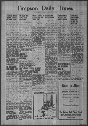 Primary view of object titled 'Timpson Daily Times (Timpson, Tex.), Vol. 41, No. 28, Ed. 1 Monday, February 9, 1942'.