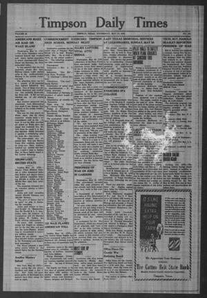 Primary view of object titled 'Timpson Daily Times (Timpson, Tex.), Vol. 42, No. 103, Ed. 1 Wednesday, May 19, 1943'.