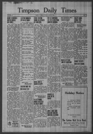 Primary view of object titled 'Timpson Daily Times (Timpson, Tex.), Vol. 41, No. 130, Ed. 1 Friday, July 3, 1942'.