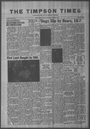 Primary view of object titled 'The Timpson Times (Timpson, Tex.), Vol. 78, No. 43, Ed. 1 Friday, November 1, 1963'.