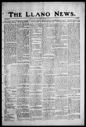 Primary view of object titled 'The Llano News. (Llano, Tex.), Vol. 44, No. 34, Ed. 1 Thursday, June 2, 1932'.