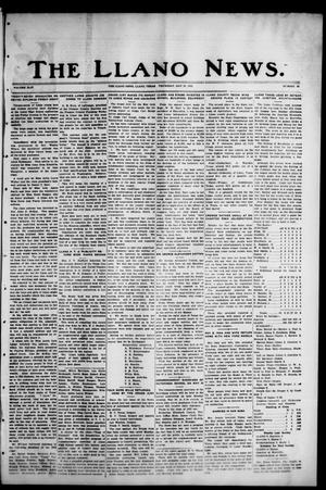 Primary view of object titled 'The Llano News. (Llano, Tex.), Vol. 44, No. 33, Ed. 1 Thursday, May 26, 1932'.