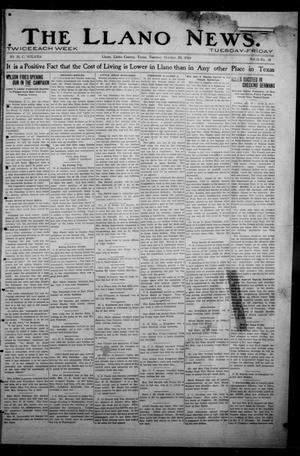Primary view of object titled 'The Llano News. (Llano, Tex.), Vol. 31, No. 38, Ed. 1 Tuesday, October 20, 1914'.