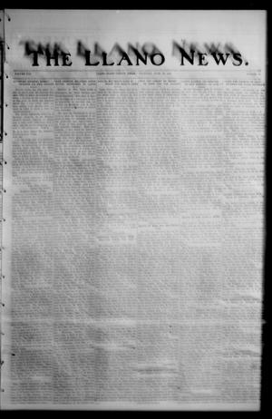 Primary view of object titled 'The Llano News. (Llano, Tex.), Vol. 42, No. 40, Ed. 1 Thursday, June 26, 1930'.