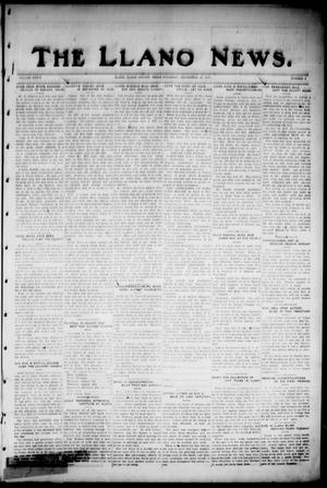 Primary view of object titled 'The Llano News. (Llano, Tex.), Vol. 36, No. 4, Ed. 1 Thursday, September 13, 1923'.