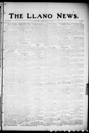 Primary view of object titled 'The Llano News. (Llano, Tex.), Vol. 35, No. 42, Ed. 1 Thursday, June 7, 1923'.