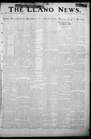 Primary view of object titled 'The Llano News. (Llano, Tex.), Vol. 31, No. 17, Ed. 1 Friday, August 7, 1914'.