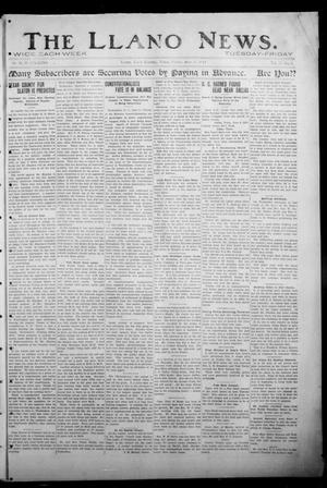 Primary view of object titled 'The Llano News. (Llano, Tex.), Vol. 31, No. 2, Ed. 1 Friday, June 5, 1914'.