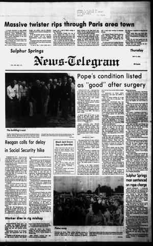 Primary view of object titled 'Sulphur Springs News-Telegram (Sulphur Springs, Tex.), Vol. 103, No. 114, Ed. 1 Thursday, May 14, 1981'.