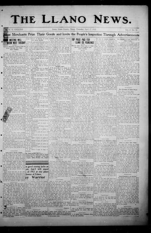 Primary view of object titled 'The Llano News. (Llano, Tex.), Vol. 29, No. 39, Ed. 1 Thursday, April 17, 1913'.