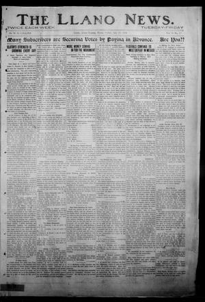Primary view of object titled 'The Llano News. (Llano, Tex.), Vol. 31, No. 12, Ed. 1 Friday, July 10, 1914'.
