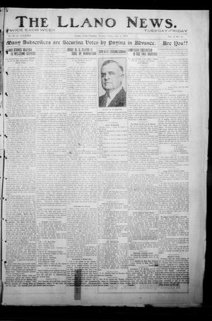 Primary view of object titled 'The Llano News. (Llano, Tex.), Vol. 31, No. 10, Ed. 1 Friday, July 3, 1914'.