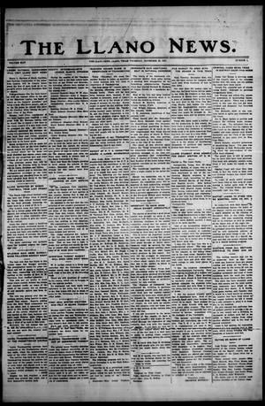 Primary view of object titled 'The Llano News. (Llano, Tex.), Vol. 44, No. 8, Ed. 1 Thursday, November 26, 1931'.