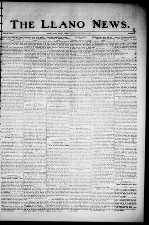 Primary view of object titled 'The Llano News. (Llano, Tex.), Vol. 37, No. 5, Ed. 1 Thursday, September 11, 1924'.