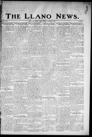 Primary view of object titled 'The Llano News. (Llano, Tex.), Vol. 39, No. 3, Ed. 1 Thursday, September 23, 1926'.