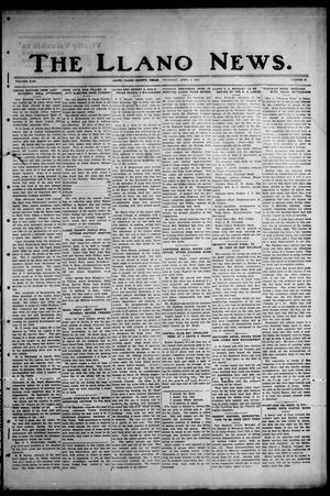 Primary view of object titled 'The Llano News. (Llano, Tex.), Vol. 43, No. 27, Ed. 1 Thursday, April 9, 1931'.