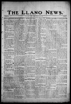 Primary view of object titled 'The Llano News. (Llano, Tex.), Vol. 43, No. 39, Ed. 1 Thursday, July 2, 1931'.