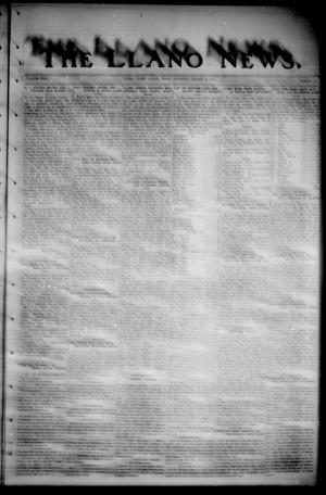 Primary view of object titled 'The Llano News. (Llano, Tex.), Vol. 35, No. 23, Ed. 1 Thursday, January 25, 1923'.