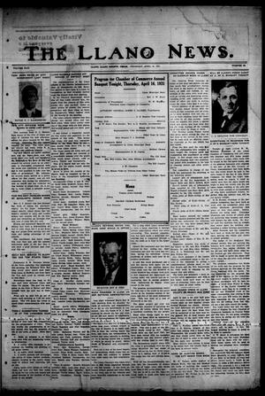 Primary view of object titled 'The Llano News. (Llano, Tex.), Vol. 43, No. 28, Ed. 1 Thursday, April 16, 1931'.