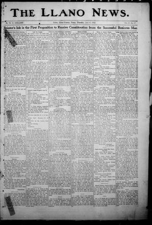 Primary view of object titled 'The Llano News. (Llano, Tex.), Vol. 29, No. 47, Ed. 1 Thursday, June 12, 1913'.