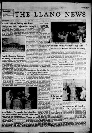 Primary view of object titled 'The Llano News (Llano, Tex.), Vol. 67, No. 39, Ed. 1 Thursday, August 30, 1956'.