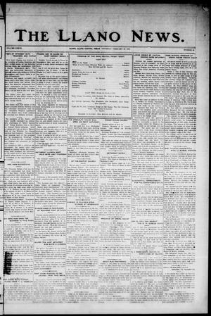 Primary view of object titled 'The Llano News. (Llano, Tex.), Vol. 37, No. 28, Ed. 1 Thursday, February 26, 1925'.