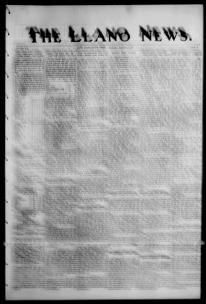 Primary view of object titled 'The Llano News. (Llano, Tex.), Vol. 42, No. 46, Ed. 1 Thursday, August 14, 1930'.