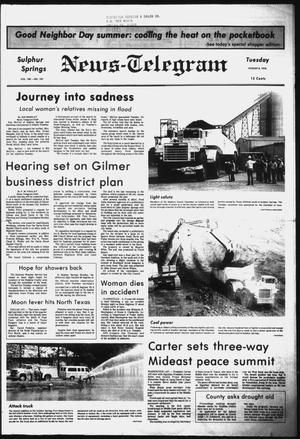 Primary view of object titled 'Sulphur Springs News-Telegram (Sulphur Springs, Tex.), Vol. 100, No. 187, Ed. 1 Tuesday, August 8, 1978'.